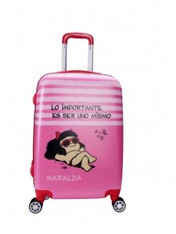 Maleta Mediana Mafalda Rosa+ Mp3