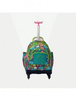 Mochila con ruedas + MP3 Totto Carbondillo 9LJ