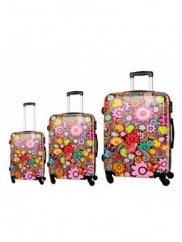 Juego de maletas Flower Power