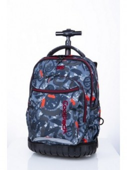 Mochila con ruedas + MP3 CoolPack Swift Red Indian