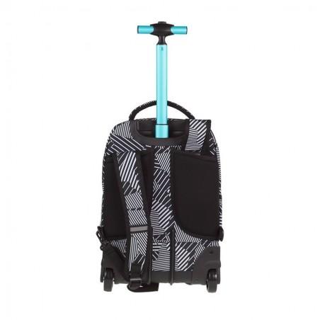 Mochila con ruedas + MP3 CoolPack Swift Black & White