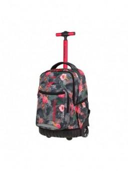 Mochila con ruedas + MP3 CoolPack Swift Coral Hibiscus