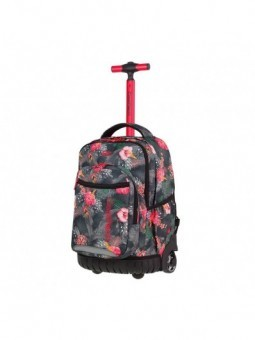Mochila con ruedas + MP3 CoolPack Swift Coral Hibiscus