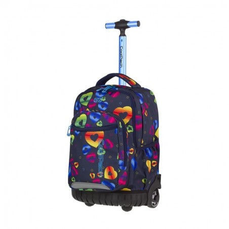 Mochila con ruedas + MP3 CoolPack Swift Rainbow Hearts