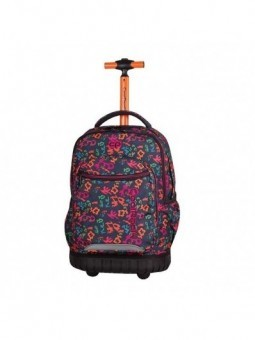 Mochila con ruedas + MP3 CoolPack Swift Floral Dream