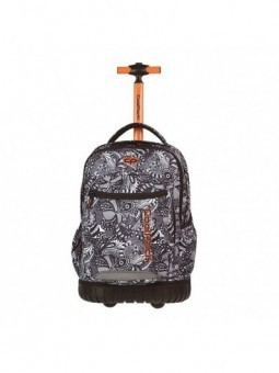 Mochila con ruedas + MP3 CoolPack Swift Black Lace