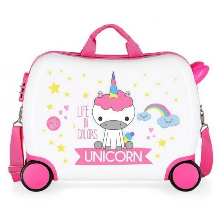 Maleta correpasillos Roll Road Little Me Unicorn