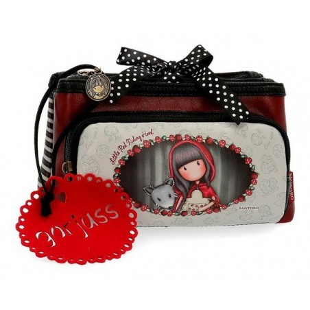 Estuche neceser triple Gorjuss Little Red Riding Hood