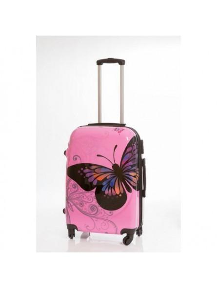 Maleta Grande Mariposas Rosa