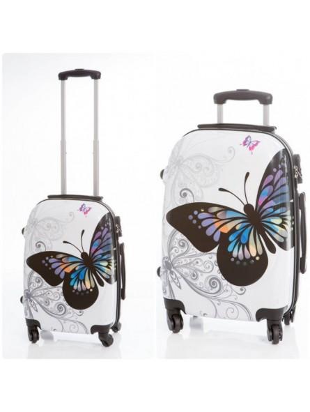 Juego maletas Mariposas grande + pequeña