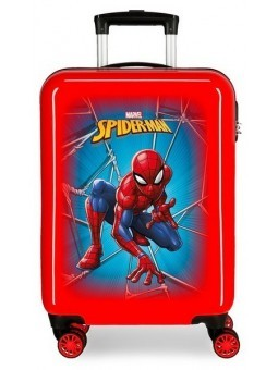 Maleta cabina Spiderman Black roja