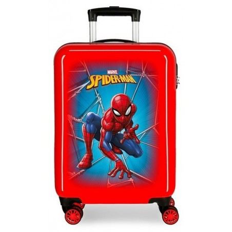 Maleta cabina Spiderman Black roja