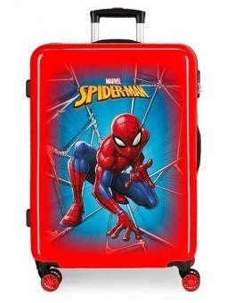 Maleta mediana Spiderman Black roja