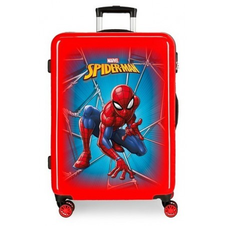 Maleta mediana Spiderman Black roja