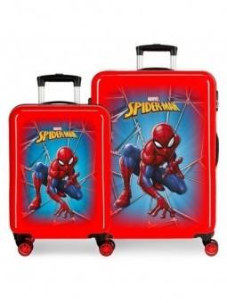 Juego de maletas Spiderman Black roja
