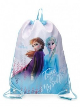 Mochila saco Disney True to Myself Frozen
