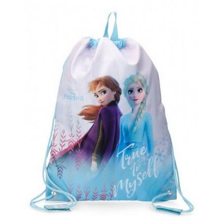 Mochila saco Disney True to Myself Frozen