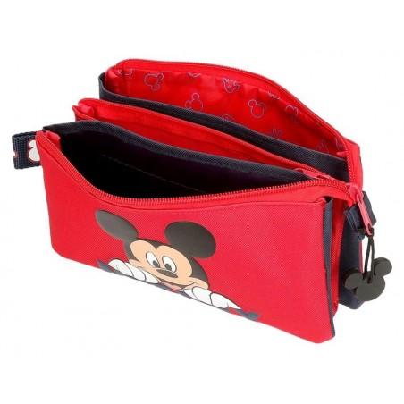 Estuche neceser triple Disney Happy Mickey