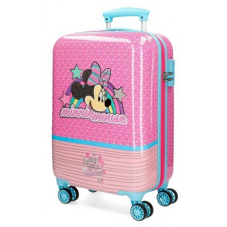 Maleta cabina dura Minnie Pink Vibes