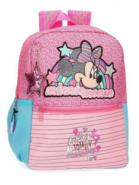 Mochila mediana adaptable Minnie Pink Vibes