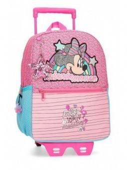 Mochila pequeña con carro Minnie Pink Vibes