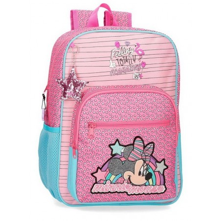 Mochila grande adaptable Minnie Pink Vibes