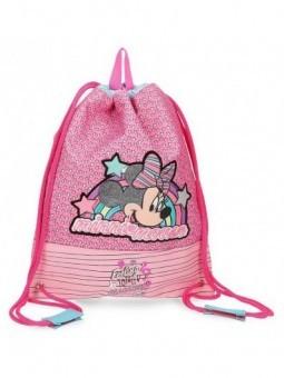 Mochila saco Minnie Pink Vibes