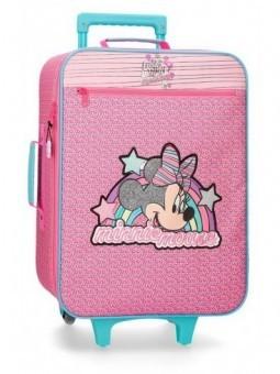 Maleta cabina Minnie Pink Vibes + Mp3