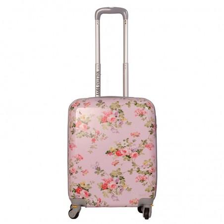 Maleta cabina Bouquet rosa