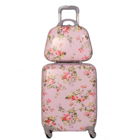 Pack maleta cabina y neceser Bouquet Rosa