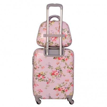 Pack maleta cabina y neceser Bouquet Rosa