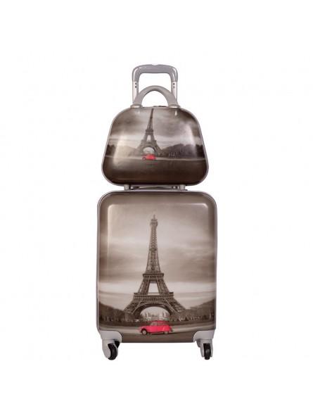 Set maleta cabina + neceser + MP3 New Paris