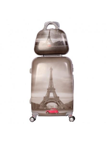 Set maleta mediana + neceser + MP3 New Paris