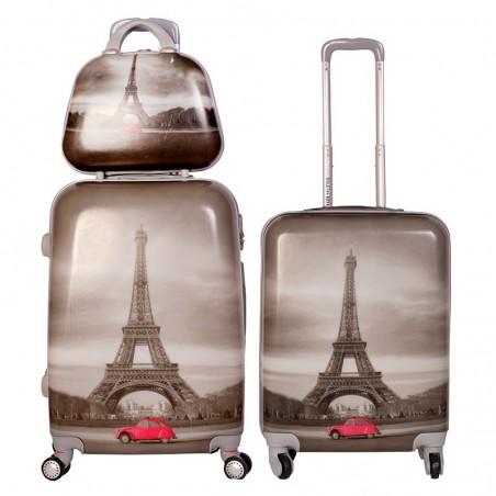 oferta de dos maletas y neceser new paris
