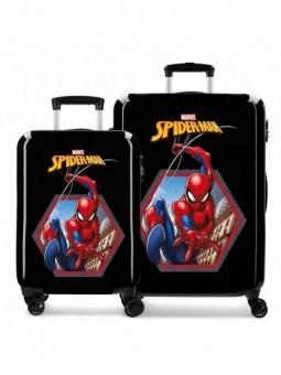 Juego de maletas Spiderman Geo negra
