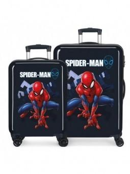 Juego de maletas Spiderman Action azul