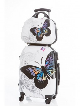 Set maleta grande Mariposas + neceser