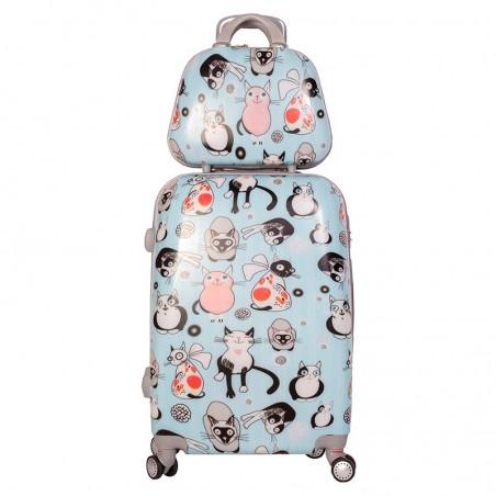 Pack maleta mediana Gatuna y neceser