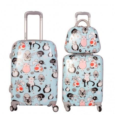 Juego maletas y neceser Gatuna