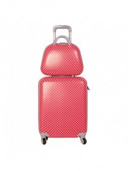 Set maleta cabina + neceser Lunares