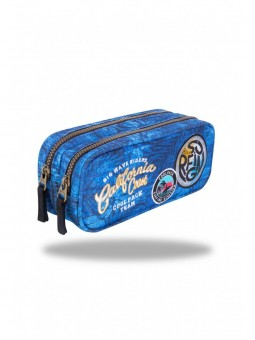 Estuche triple Coolpack Parches Surfng Blue