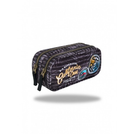 Estuche triple Coolpack Surfing Black