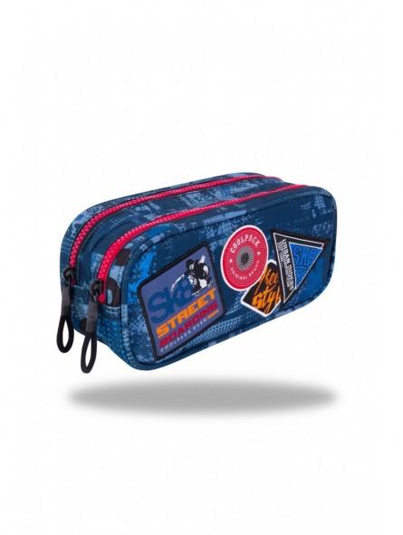 Estuche triple Coolpack Parches Blue