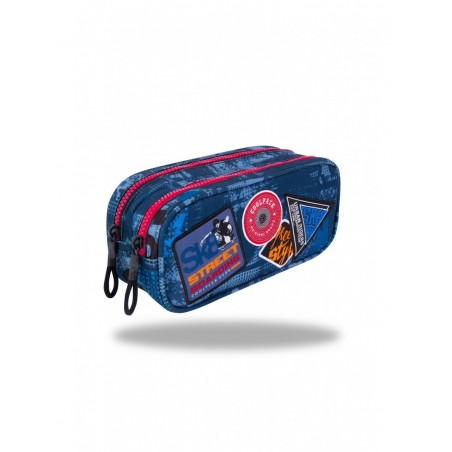 Estuche triple Coolpack Parches Blue