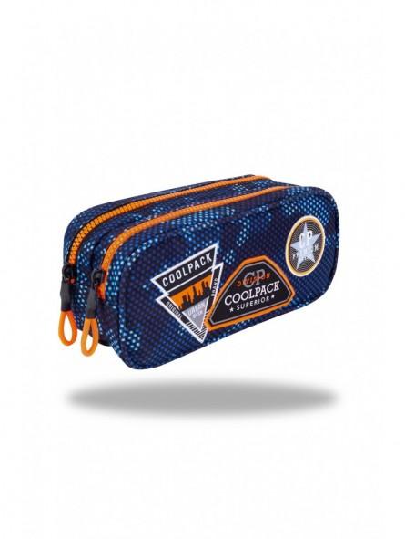 Estuche triple Coolpack Parches Azul