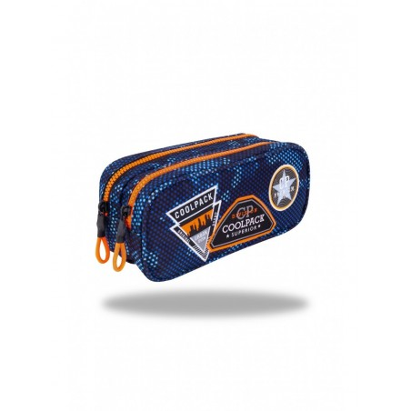 Estuche triple Coolpack Parches Azul