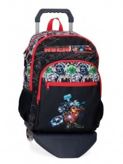 Mochila doble con carro Marvel Avengers Armour Up