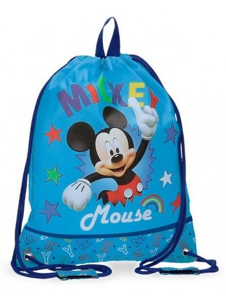 Mochila saco Disney Mickey Stars