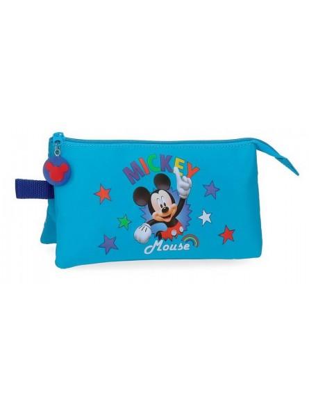 Estuche neceser triple Disney Mickey Stars