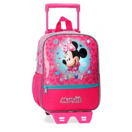 Mochila pequeña con carro Disney Minnie Help on the day
